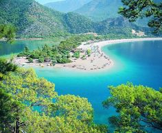 This gorgeous lagoon is Olu Deniz in Turkey - I have been here and Loved it!