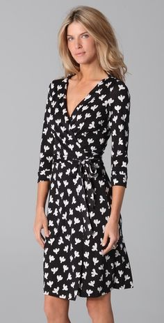 can never go wrong with a DVF wrap dress for work.