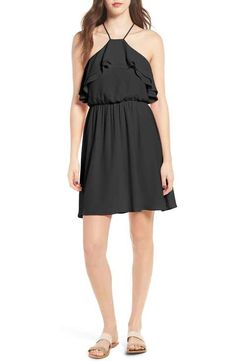 Lush Ruffle Blouson Dress