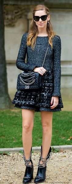 101 Street style - Chanel - full details→ http://luciafashiondesignblog.blogspot.com/2013/08/101-street-style-chanel.html