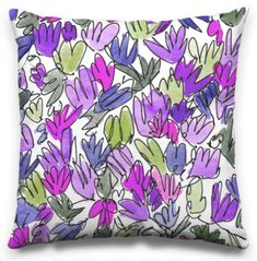 Glory-of-the-Snow is the name of the name of those carpets of tiny purple flowers in Spring. Glory Of The Snow, Art Desk, Pillow Design, Purple Flowers, Surface Design, Carpets, Florals, My Arts, Jar