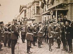 Kaiser Wilhelm inspects Russian soldiers - St Petersberg 1897.
