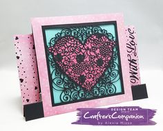 Created by Alexia Misso using Die'sire Create-a-Card dies from #crafterscompanion