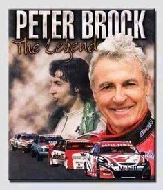 Peter Brock, Australian Motor Racing Champion. v@e.