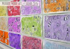 artisan des arts: Wobbly word art - grade 5/6