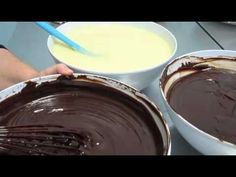 how to make chocolate ganache for decorating cakes Part 1 of 3 Inspired by Michelle Cake Designs - YouTube