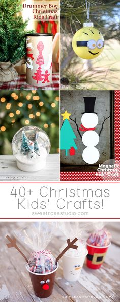 Find something to please kids of all ages with these 40+ Christmas Kids Crafts!