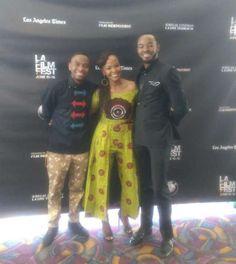Ayanda and the mechanic: OC Ukeje, Fulu Mugovhani shine at Los Angeles premiere [PHOTOS]