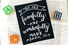 You Are Fearfully & Wonderfully Made Psalm 139  by JourneyJoyful