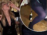 New Love Island host Laura Whitmore downs shots and plays boozy games