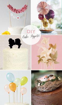 18 DIY cake topper ideas | 18 DIY kakkukoristetta - Best Day Ever Like this.