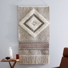 Sequin Shag Wall Tapestry - Diamond #westelm Looking at this for my livingroom wall.