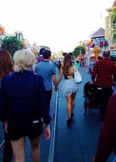 Ariana Grande Nathan Sykes at Disneyland
