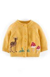 Mini Boden 'My Favourite' Intarsia Knit Cardigan (Baby Girls)