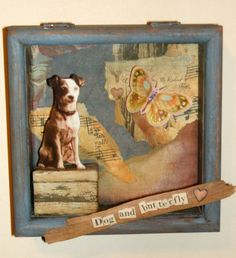 3d shadow box collage