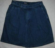 Ralph Lauren Dark Navy Denim Walking Shorts 29 Waist