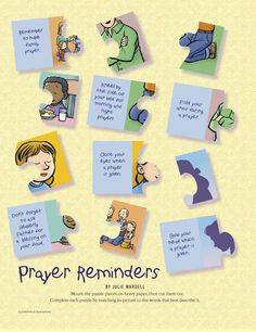 Puzzle Can be used with - Primary 2: Choose the Right A Lesson 10: I Can Speak with Heavenly Father in Prayer