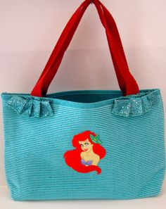The Little Mermaid Inspired Tote Bag on Etsy, $23.00