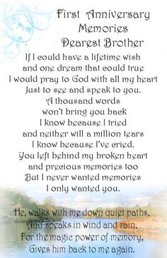 Dearest Brother  #RIP #grief  love n miss u, your 4 brothers