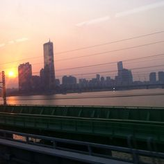 Seoul from the train window