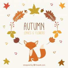 Autumnal leaves and fox with flat design Free Vector        #Floral    #Flowers     #Design     #Leaf     #Nature     #Autumn     #Cute     #Leaves     #Colorful     #Flat     #Plant     #Fall     #Colors     #Natural     #Fox     #Flat design     #Plants     #Warm     #Branches     #Autumn leaves