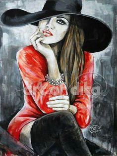 elegant/boudoir art by Dita Omuri (London England) Katy Hale Pictures To Paint, Art Pictures, Urbane Kunst, Fashion Painting, Portrait Art, Face Art, Figurative Art, Art Images, Art Girl