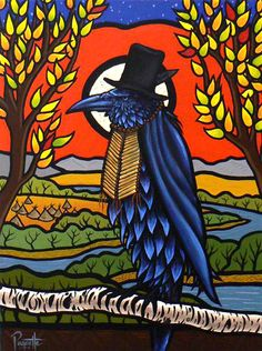 Seasons Change ~ by Aaron Paquette (Metis) Crow Art, Raven Art, Bird Art, Painting Prints, Painting & Drawing, Paintings, Claudia Tremblay, Raven And Wolf, Crows Ravens