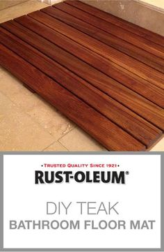 We Love This Teak Bathroom Floor Mat