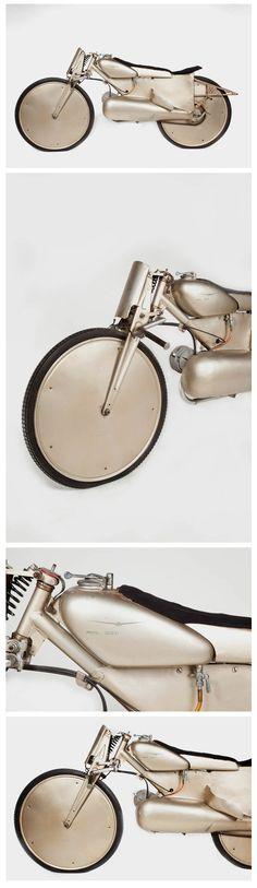 "The Moto Guzzi Motoleggera 65 (a.k.a. ""Guzzino"") was designed by Antonio Micucci and manufactured by the famous Lombard company from 1946 to 1954.  Via The Italian Way"