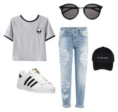 """Lol"" by yoboi-dean ❤ liked on Polyvore featuring Chicnova Fashion, Dsquared2, adidas and Yves Saint Laurent"