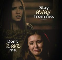 TVD..its always like that, you want them to gtfo and then when they have to leave you dont want them to