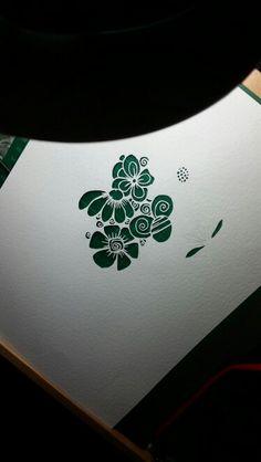 The making of a pretty flower papercut #papercraft #papercut #love #flower #paper #gift #daisyjayne www.facebook.com/daisyjaynehandmade