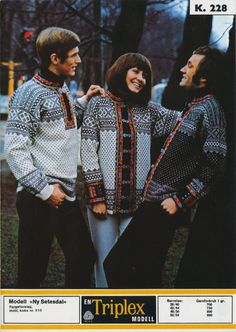 Vintage Knitting, Hand Knitting, Knitting Patterns, Sweater Patterns, Norwegian Knitting, Norway, Christmas Sweaters, Men Sweater, Pullover