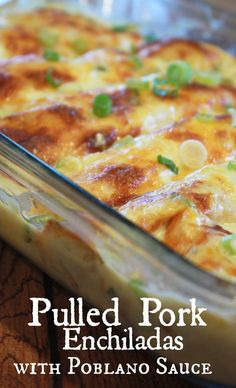 Are you looking for easy pork recipes? This Slow Cooker Pulled Pork Enchiladas with Poblano Cream Sauce recipe is awesome! These succulent pulled pork enchiladas are slow cooked to perfection and topped with poblano enchilada sauce. Pork so tender it will Pulled Pork Enchiladas, Slow Cooker Enchiladas, Mexican Enchiladas, Enchilada Sauce, Enchilada Recipes, Slow Cooking, Healthy Cooking, Poblano Cream Sauce, Gastronomia