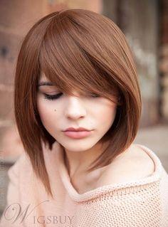 Lovely Medium Straight Capless Human Hair Wig