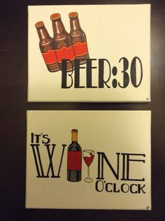 Hey, I found this really awesome Etsy listing at https://www.etsy.com/listing/158164498/beer30-and-wine-oclock-painting-set-8x10