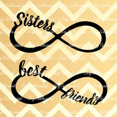 Sisters Infinity SVG, Best friends Infinity SVG, Infinity SVG, Friendship Svg, Siblings Svg, cricut, Eps, Png, Jpg, Dxf, Vector, Clipart, by SVGEnthusiast on Etsy