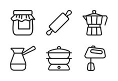 'Cooking' by Hopnguyen Mr Debut Invitation, Invitation Templates, Cooking Icon, Drink Icon, Web Design, Icons, Drawing, Drinks, Food