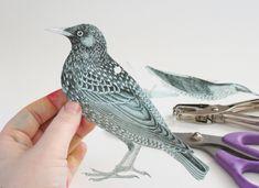 Dream a Little Bigger - Dream a Little Bigger Craft Blog - Shrinky Dink Jewelry - Bird EarringsTutorial