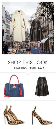 """""""In the streets of Paris """" by sarah-soeie ❤ liked on Polyvore featuring Miu Miu, Francesco Russo and sarah"""