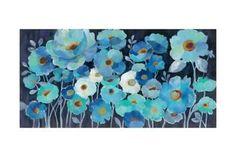 Indigo Flowers Art Print by Silvia Vassileva at Art.com