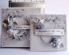 Dorota_mk The card that is on the left, move the saying down to the bottom. Pretty Cards, Love Cards, Wedding Cards Handmade, Shabby Chic Cards, Engagement Cards, Wedding Anniversary Cards, Cards For Friends, Card Sketches, Vintage Cards