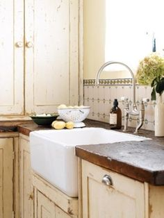 Rustic kitchen wooden countertops