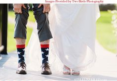 Red, White and Blue Wedding Ideas - Photographed by Two Birds Photography / via StyleUnveiled.com