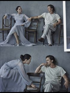 "Brad Pitt and Angelina Jolie on the November 11, 2015 issue of Vanity Fair Italia. ""Repinned by Keva xo""."