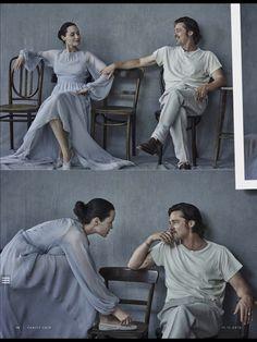 """Brad Pitt and Angelina Jolie on the November 11, 2015 issue of Vanity Fair Italia. """"Repinned by Keva xo""""."""