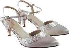 49cba5cd1c4 Bridal Prom Ivory Satin Shoe - Brooke