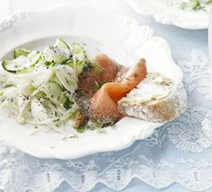 This light and refreshing cucumber salad also goes well with smoked salmon or pickled herrings