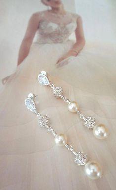 12ed3c7ae8dc Swarovski Crystal Chandelier Earrings Wedding Bridal Pendientes De Novia