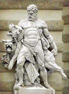 Hercules Wrestling Cerberus. The Body of a God.